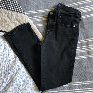 Gap classic straight washed black jeans 29